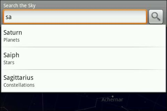 Google Sky Map para Android - Download on
