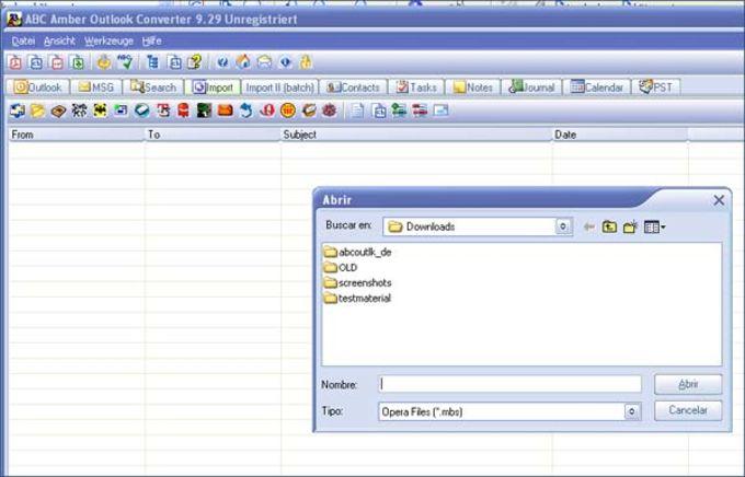 ABC Amber Outlook Converter