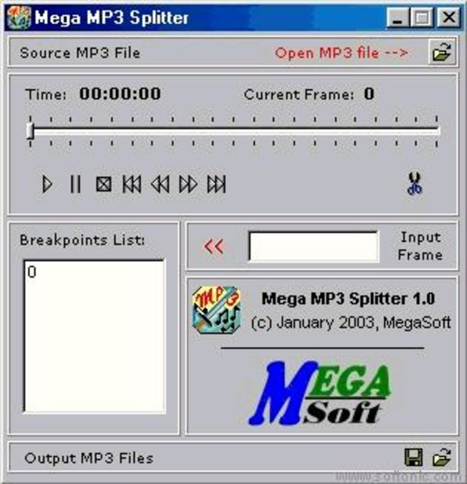 Mega MP3 Splitter