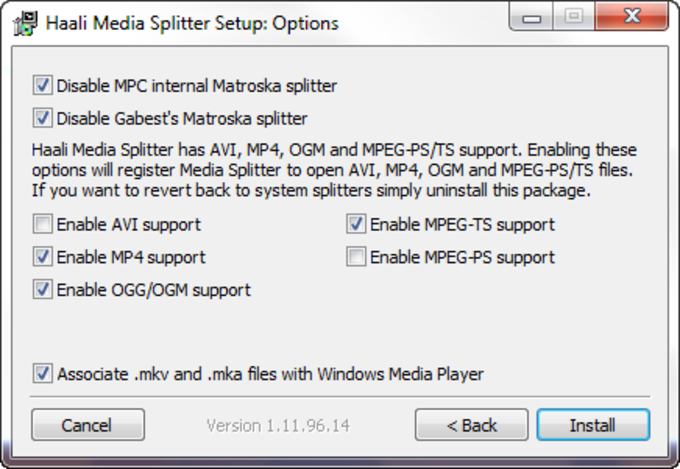 Haali Media Splitter