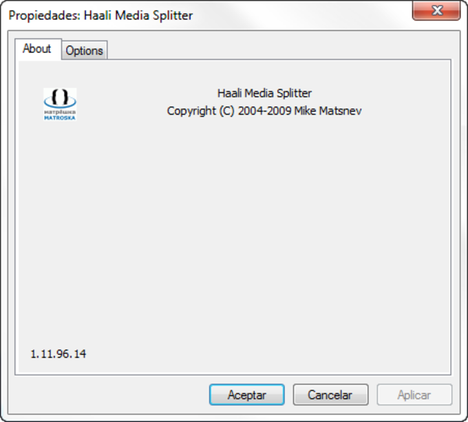 Haali Media Splitter