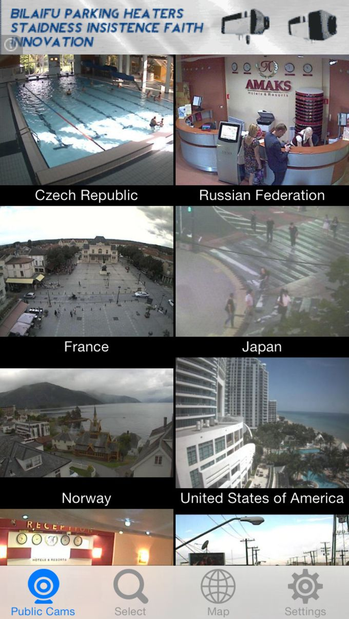 Webcams Viewer - Thousands of Live Video Surveillance IP Cams in the World