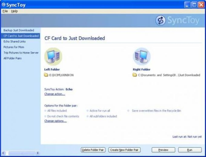 SyncToy for Windows XP