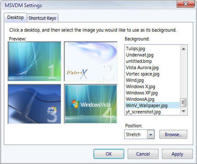 Virtual Desktop Manager Powertoy