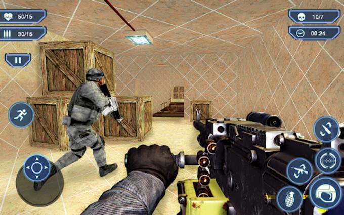 Counter Terrorist 2 Machine Gun Shooting Strike