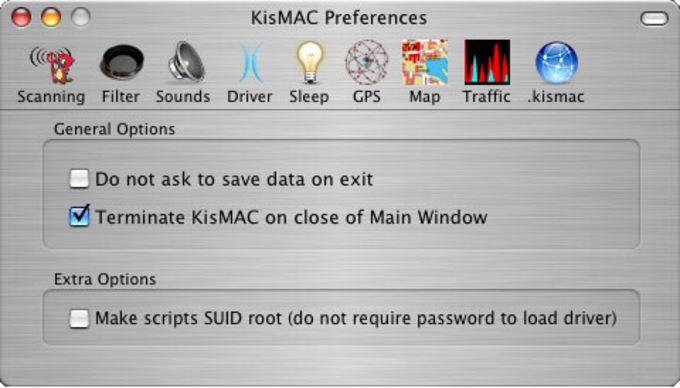 Nicht online stellen!!! KisMAC