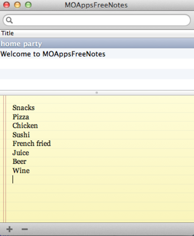 MOApps Free Notes