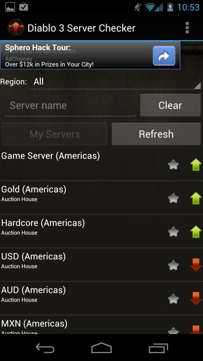 Diablo 3 Server Checker