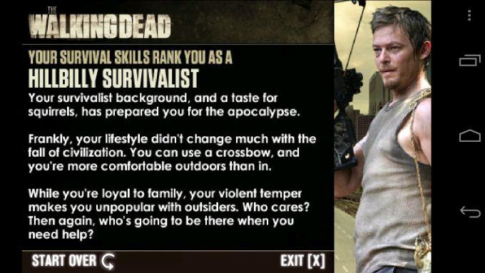 The Walking Dead Survival Test