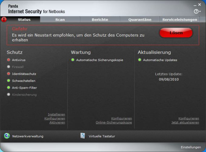 Panda Internet Security for Netbooks