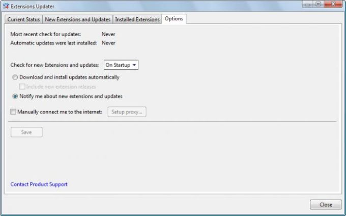 Extensions for Windows