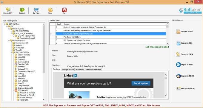 OST File Exporter for OST to PST Conversion