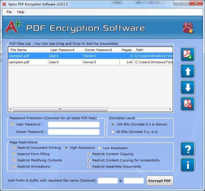Aplus PDF Encryption Software