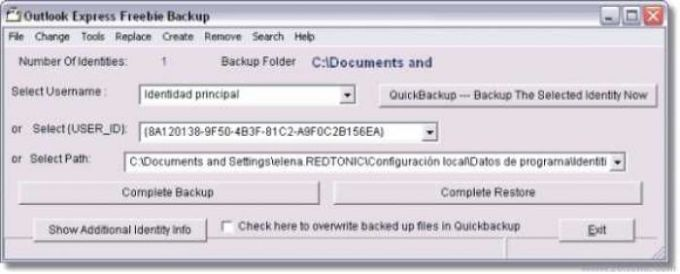 Outlook Express Freebie Backup