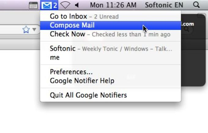 Google Notifier for Mac