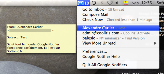 Google Notifier