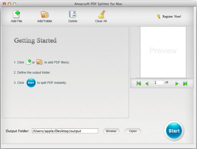 Amacsoft PDF Splitter for Mac