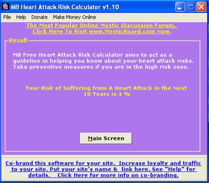 MB Heart Attack Risk Calculator
