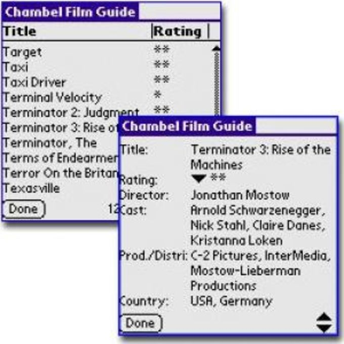 Chambel's Film Guide