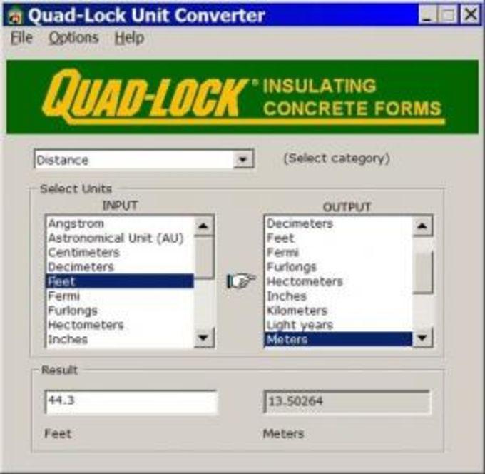 Quad-Lock Unit Converter