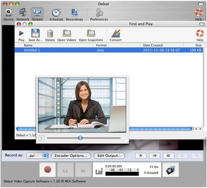 Debut Free Mac Video Recording Software