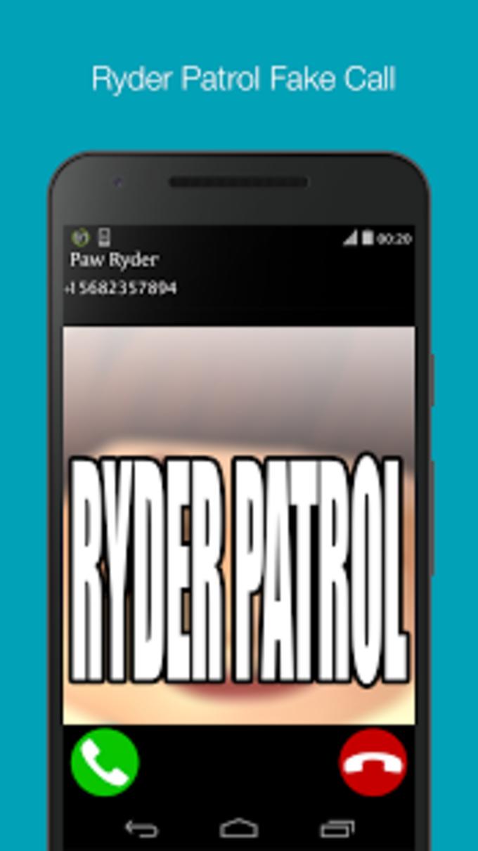 Ryder Patrol Fake Call Vid