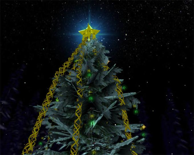 Free Christmas Tree 3D Screensaver