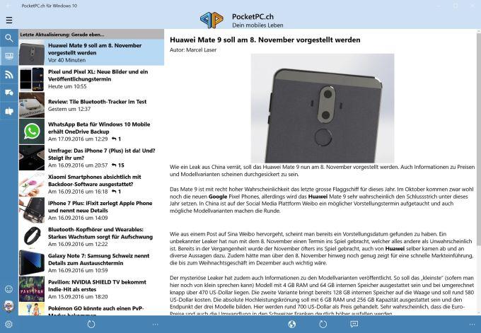 PocketPC.ch für Windows 10