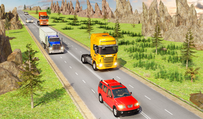Traffic Highway Truck Racing  Truck Driving