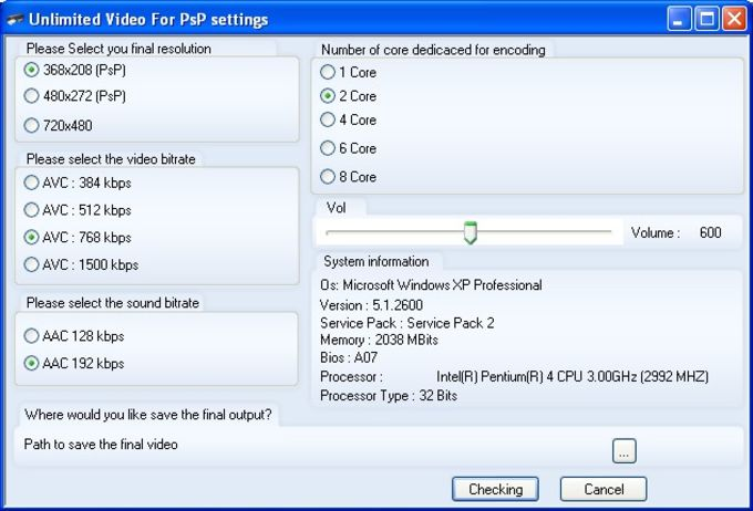 Unlimited Video For PsP
