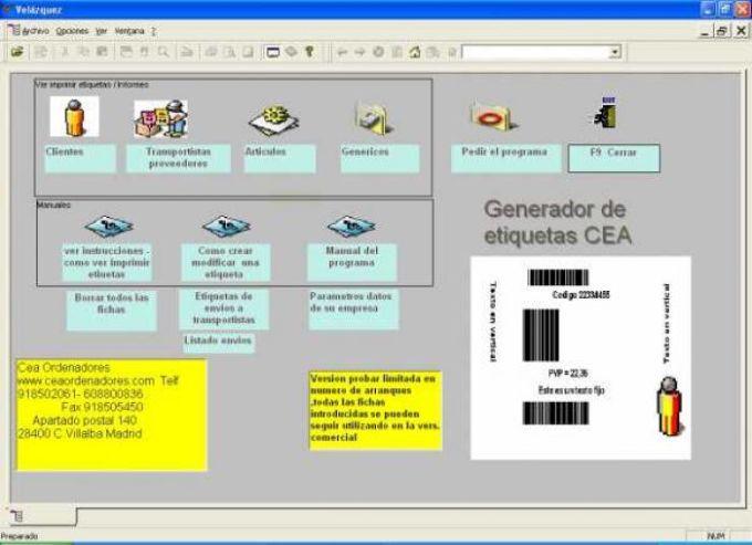 Generador de Etiquetas