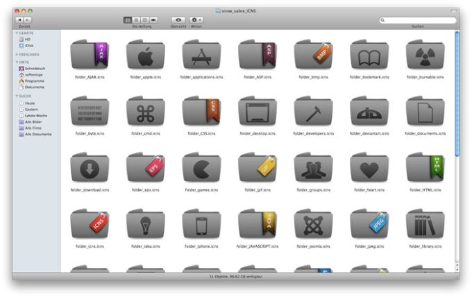 Sabre Snow Icon Pack