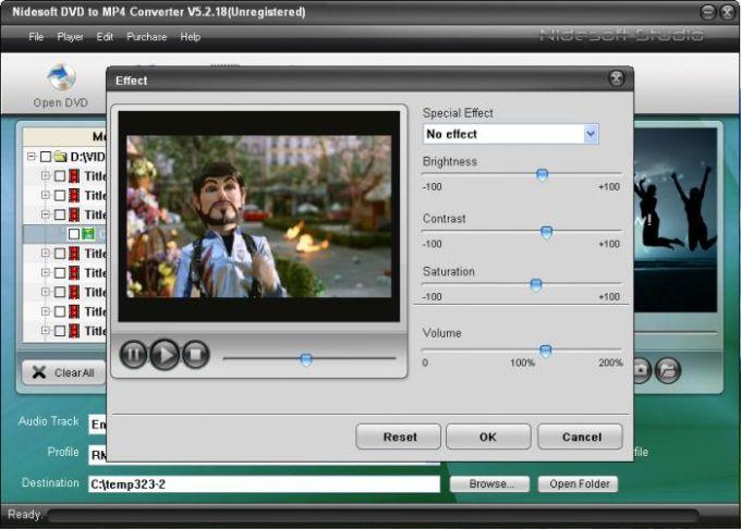 Nidesoft DVD to MP4 Converter