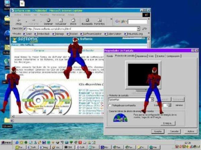 Bouncing Spiderman Screensaver
