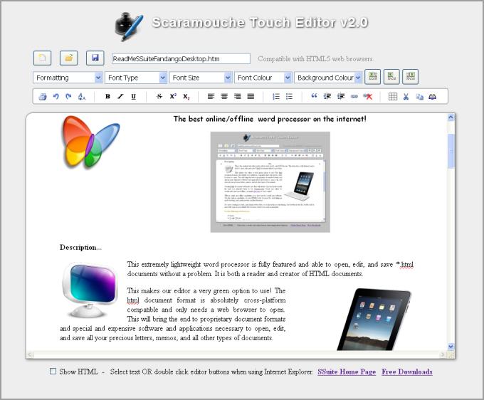 SSuite Fandango Desktop