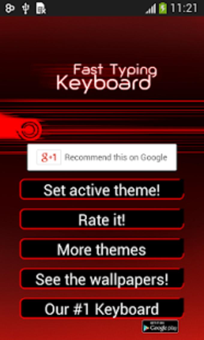 Fast Keyboard Typing