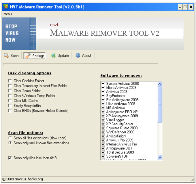 NVT Malware Remover Tool