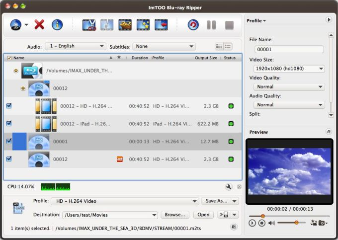 ImTOO Blu-ray Ripper for Mac