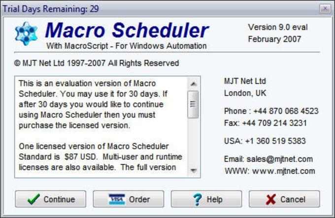 Macro Scheduler