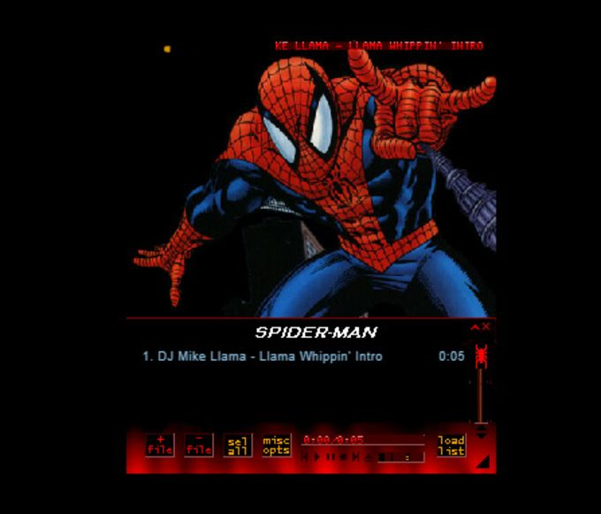 Winamp Skin: Spiderman Cartoon