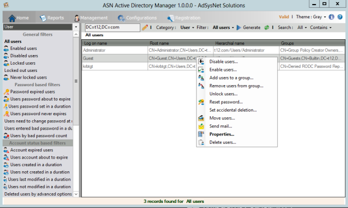 ASN Active Directory Manager