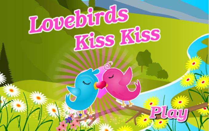 Fun Lovebirds Kiss Kiss