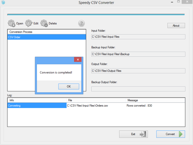 Speedy CSV Converter