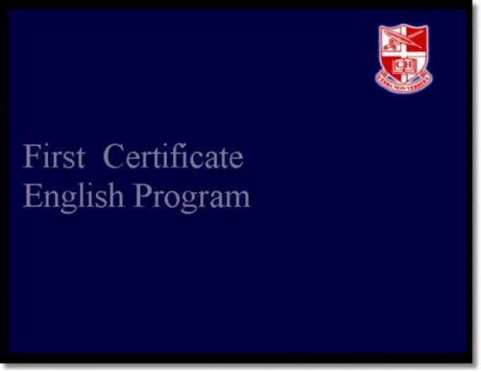First Certificate English Program