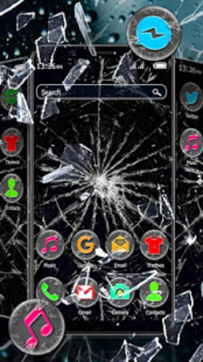 Broken Glass Hd Theme  Live Wallpaper