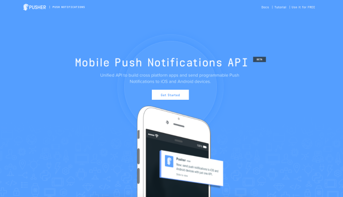 Pusher Mobile Push Notifications API