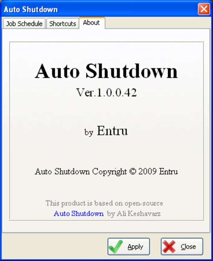 Auto Shutdown by Entru
