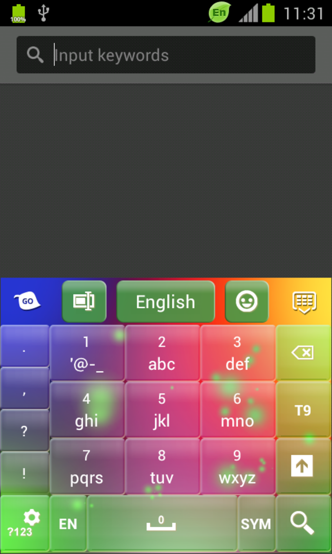 Multicolor Keyboard Free