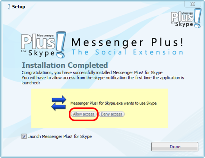 Interface principale de Messenger Plus! pour Skype