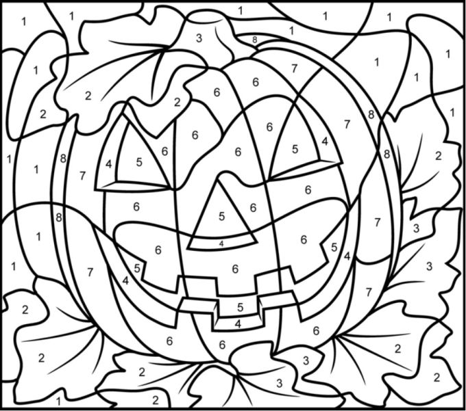 Color by Numbers-Halloween